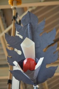 戸畑祇園西大山笠の幟山笠の前花の上部の装飾