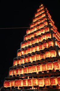 戸畑祇園西大山笠の華麗な提灯山笠の姿